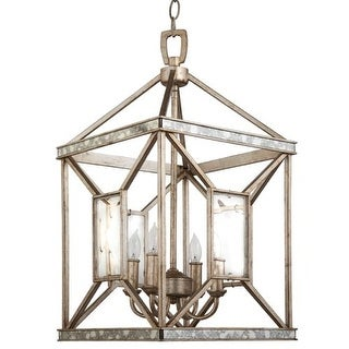 """Park Harbor PHPL5174 17"""" Wide 4 Light Foyer Pendant with Glass Accents"""