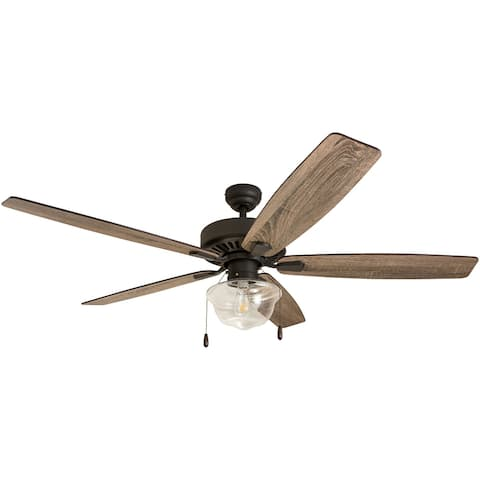 The Gray Barn Lyme Park 60-inch Coastal Indoor LED Ceiling Fan with 5 Reversible Blades - 60