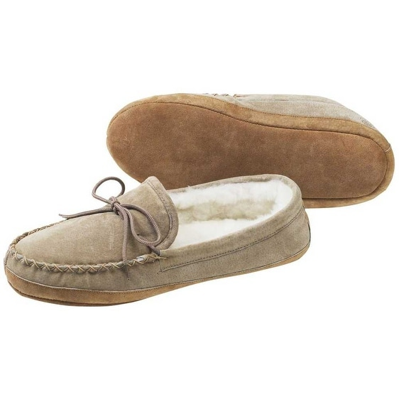 79b8c663181 Shop Old Friend Footwear Men s Soft Sole Sheepskin Moccasin Slippers  481193-M - Free Shipping Today - Overstock - 18285824
