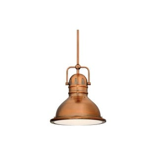 """Westinghouse 63084A Boswell 9"""" Wide Single Light LED Mini Pendant with Metal Shade"""
