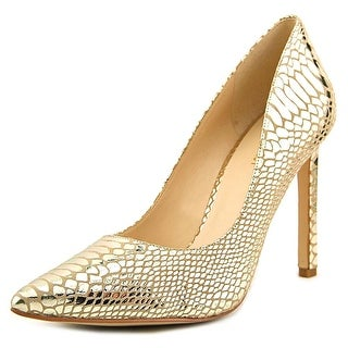 Nine West Tatiana Women Pointed Toe Synthetic Gold Heels