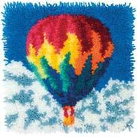"Hot Air Balloon - Latch Hook Kit 12""X12"""