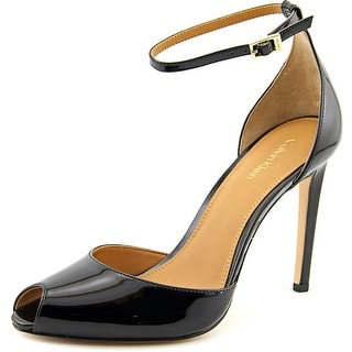 Calvin Klein Sirena Women  Peep-Toe Synthetic Black Heels