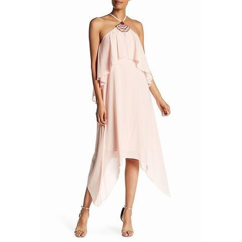 58f1735b0dc Trina Turk Women s Hardware Asymmetrical Sheath Dress Silk