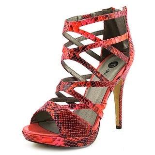 Michael Antonio Trevor Women Peep-Toe Synthetic Pink Heels