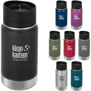 Klean Kanteen Wide Mouth 12 oz. Insulated Bottle with Cafe Cap 2.0