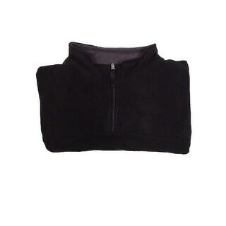 Club Room Men's Mock Quarter-Zip Sweater (Deep Black, 3XB) - Deep Black - 3xb