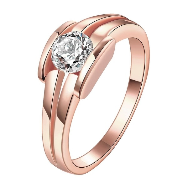 Triple Cluster Jewel Rose Gold Ring