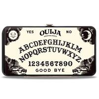 Ouija Mystifying Oracle Board Elements White Black Hinged Wallet - One Size Fits most