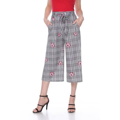 Gaucho Pants - Red Flower