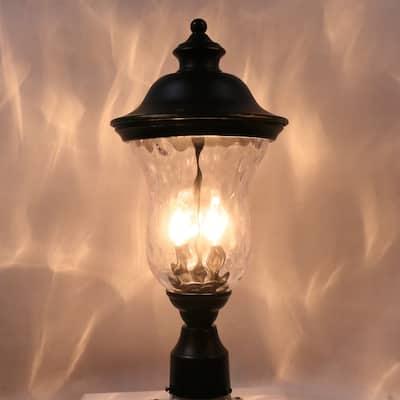 1 Light Post Light in Imperial Black