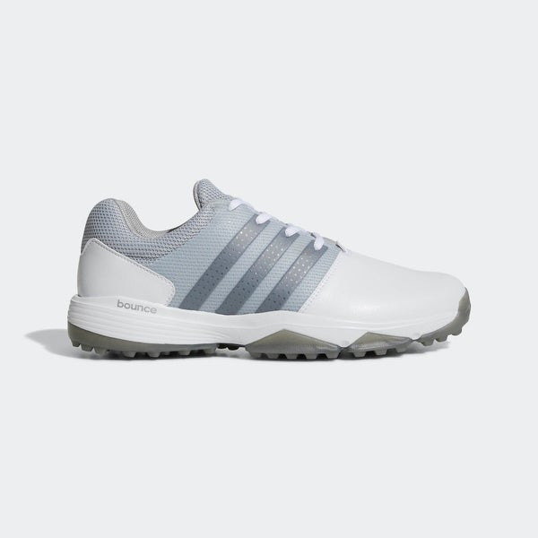 new concept 47fa6 9855a ... Mens Golf Shoes. Adidas Menx27s 360 Traxion Cloud WhiteDark Silver  MetallicSilver
