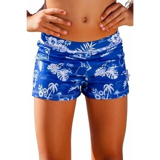 Sun Emporium Boys Navy Aloha Print Euroleg Shorts