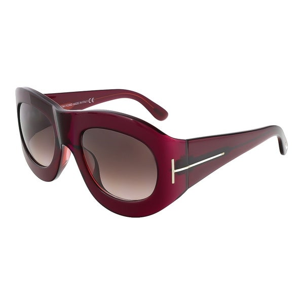 Tom Ford FT0403/S 77Z Mila Fuchsia Oval Sunglasses - 53-23-130