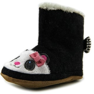 Robeez Panda Bootie Infant Round Toe Canvas Slipper