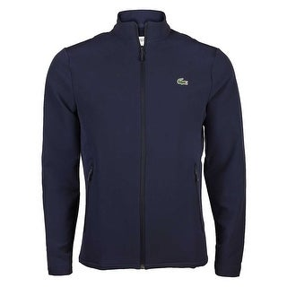 Lacoste Mens Sport Golf Stretch Zippered Sweatshirt in Navy Blue