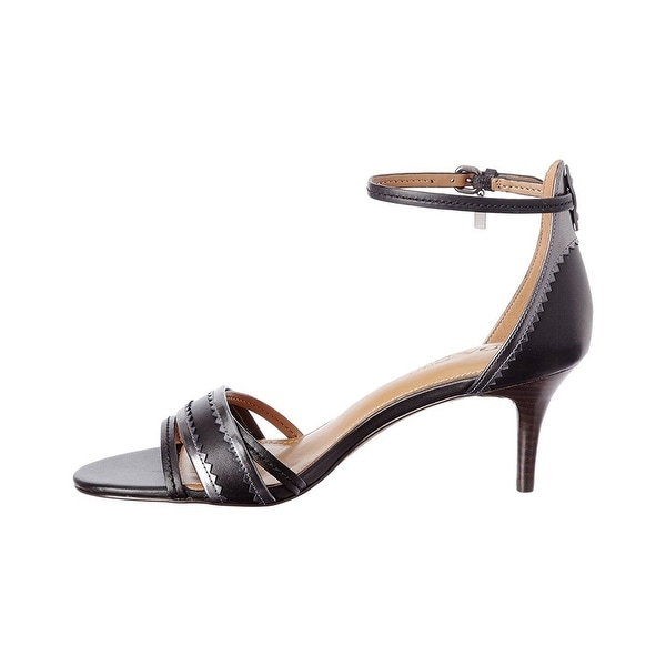 Coach Womens maxine Leather Open Toe Casual Slingback Sandals