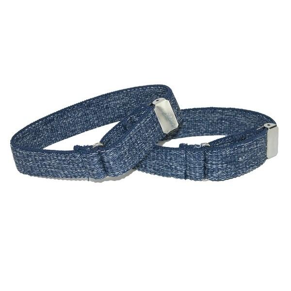 CTM® Men's Elastic Denim Adjustable Armband Sleeve Garter