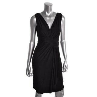 Ralph Lauren Womens Matte Jersey Sleeveless Cocktail Dress - 0