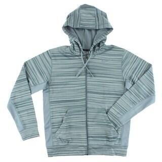 Nike Mens Knock Out Blur Full Zip Training Hoodie Grey