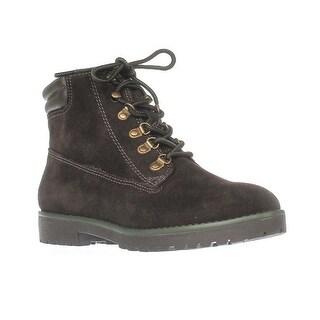 Lauren Ralph Lauren Mikelle Work Boots, Dark Chocolate/Dark Chocolate