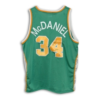 """Xavier McDaniel Seattle Supersonics Autographed Throwback Jersey Inscribed """"X-Man"""""""