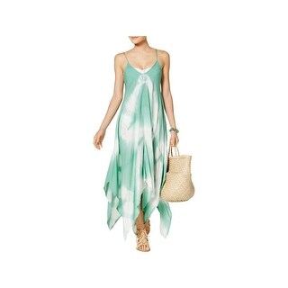 Raviya Womens Maxi Tie-Dye Dress Swim Cover-Up