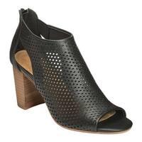 Aerosoles Women's High Frequency Open Toe Bootie Black Leather