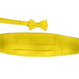 Boys Yellow Cummerbund Bow-tie Special Occasion Accessories Set