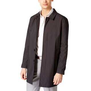 Calvin Klein CK Mens Dotted Raincoat Black 36 Regular 36R