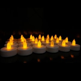 CYS® LED-24 Battery-powered Flameless LED Tealight Candles, Pack of 24 pcs
