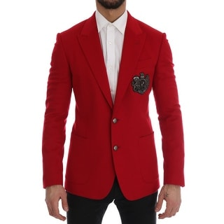 Link to Dolce & Gabbana Red Cashmere Slim Fit Men's Blazer Similar Items in Sportcoats & Blazers