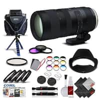 Tamron SP 70-200mm f/2.8 Di VC USD G2 Lens for Canon EF International Version (No Warranty) Pro Kit - black