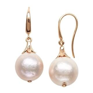Honora Ming Cultured Pearl Drop Earrings in 14K Rose Gold - Pink