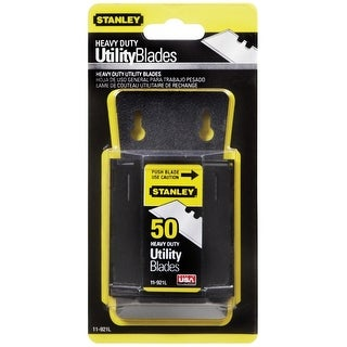 Stanley 11-921L Heavy Duty Utility Blades, Silver, 50/Pack