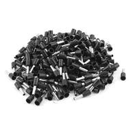 Unique Bargains 300Pcs E2508 Black Crimp Connector Insulated Pin Terminal for 14 AWG Wire