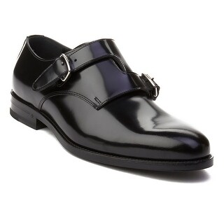 """Saint Laurent Men's Leather """"Dare 25"""" Crossed Monkstrap Oxford Dress Shoes Black (2 options available)"""