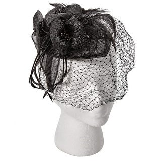 Women's Fascinator British Royal Fashion Hat - Lace Veil - Medium