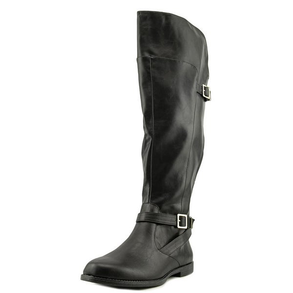 Bella Vita Romy II Women W Round Toe Synthetic Black Knee High Boot