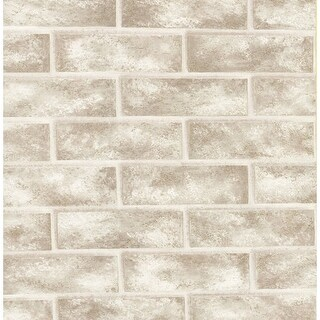 Brewster 412-56947 Urbania White Brick Texture Wallpaper