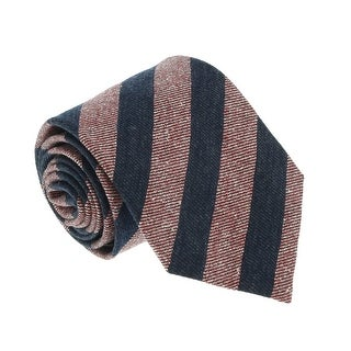 Missoni U5123 Pink/Navy Awning 100% Silk Tie - 60-3