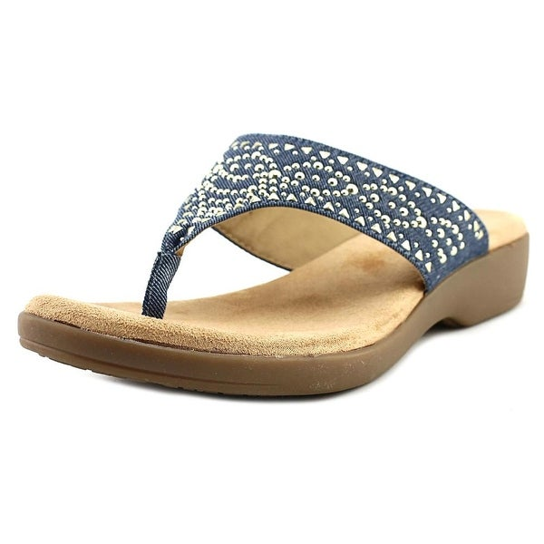 Rialto BLUMA Women Open Toe Canvas Blue Thong Sandal