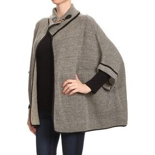 Womens Tweed Poncho