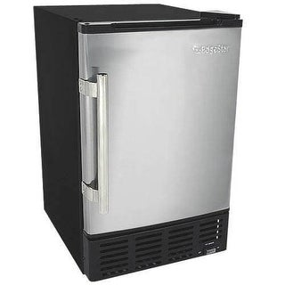 EdgeStar IB120 15 Inch Wide 6 Lbs. Capacity Built-In Ice Maker with 12 Lbs. Dail
