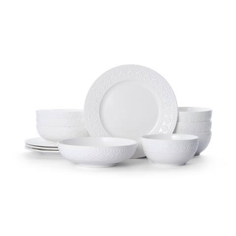 Pfaltzgraff Haisley White 12 piece Dinnerware Set (Service for 4)