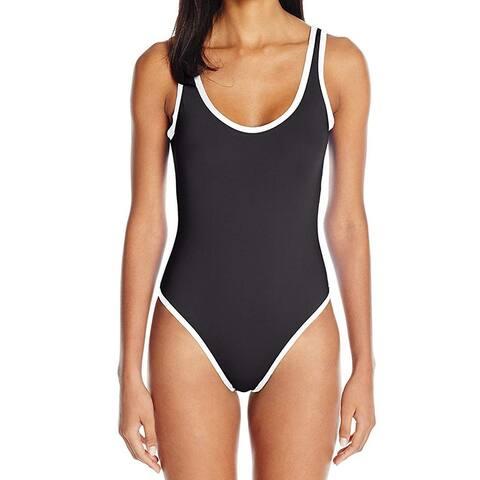 Kenneth Cole Reaction Black Womens Size Medium M One-Piece Swimwear