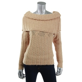 Catherine Malandrino Womens Wool Cable Knit Tunic Sweater - S