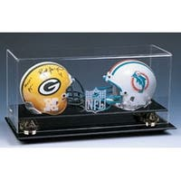 Football Double Mini Helmet Deluxe Display Case w NFL Logo