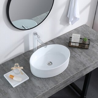 Link to Bathroom Sink Above Counter Oval Bowl Ceramic Sink White Porcelain Similar Items in Sinks