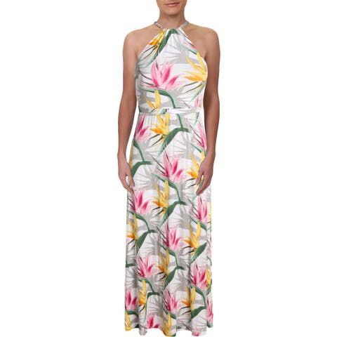 961580f4e50 Tommy Bahama Womens Notorious B.O.P. Maxi Dress Halter Floral Print